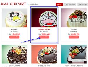 Hướng dẫn đặt bánh online