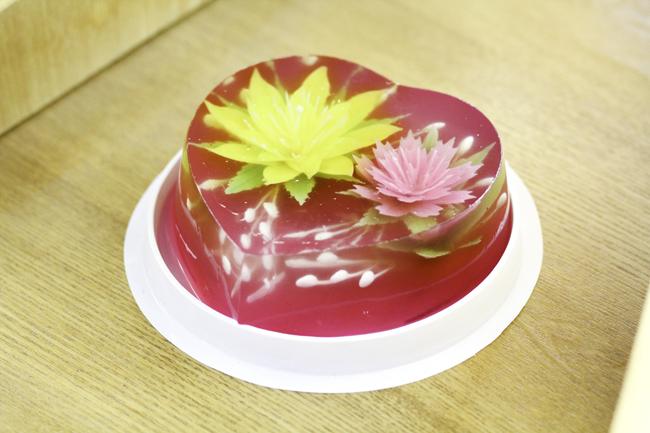 Bánh thạch hoa trái tim